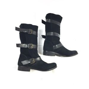 Steve Madden suede moto boots size 7.5